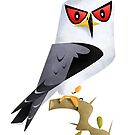 Black-shouldered Kite caricature by rohanchak