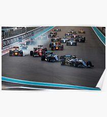 Formula 1 racing cars 2016 Poster
