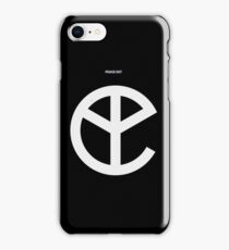 Music Black Peace Out Logo iPhone Case/Skin