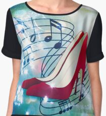 Let's Dance. Put on your Red Shoes and dance the Blues Women's Chiffon Top