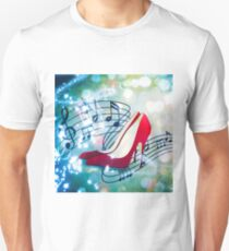 Let's Dance. Put on your Red Shoes and dance the Blues Unisex T-Shirt