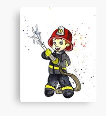 Fireman Boy Canvas Print