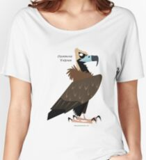Cinereous Vulture caricature Women's Relaxed Fit T-Shirt