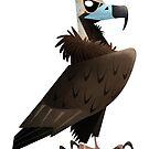 Cinereous Vulture caricature by rohanchak