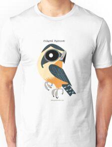 Collared Falconet caricature Unisex T-Shirt