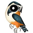 Collared Falconet caricature by rohanchak