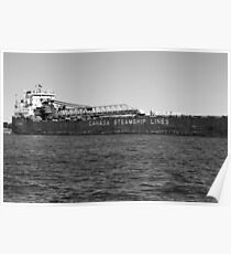 Canada Steamship Lines BW Poster