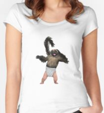Puppy Monkey Baby Women's Fitted Scoop T-Shirt