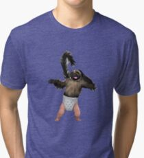 Puppy Monkey Baby Tri-blend T-Shirt