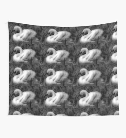 Portrait of a Swan Wall Tapestry