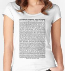 bee movie script ( you can read it) Women's Fitted Scoop T-Shirt