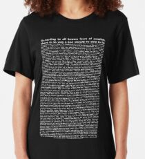 bee movie script ( you can read it) Slim Fit T-Shirt