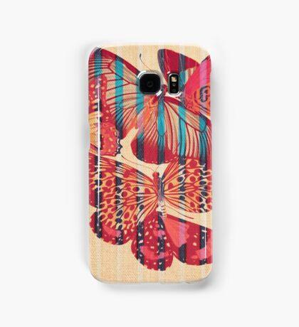 Butterflies in Strips Samsung Galaxy Case/Skin