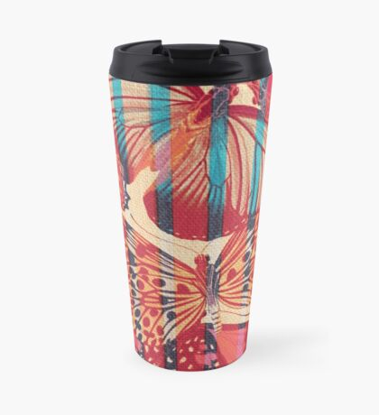Butterflies in Strips Mug de Voyage