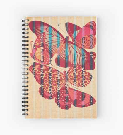 Butterflies in Strips Spiral Notebook