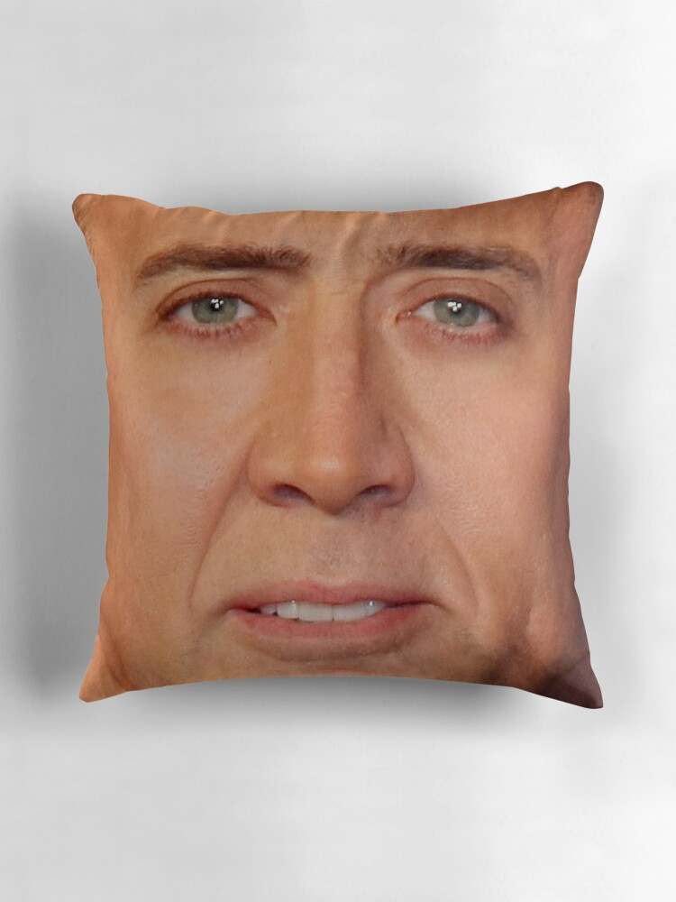 Quot Nicolas Cage Face Throw Pillow V Quot Throw Pillows By