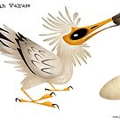 Egyptian Vulture caricature by rohanchak