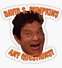 David S. Pumpkins - Any Questions? - Sticker Sticker
