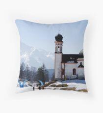 Seekirchl church in Seefeld in Tirol, Austria Throw Pillow