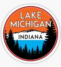 LAKE MICHIGAN BOATING FISHING ILLINOIS INDIANA WISCONSIN VINTAGE TRAVEL GREAT LAKES 2 Sticker