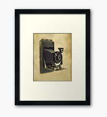 An old bellows camera. Framed Print