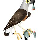 Grey-headed Fish Eagle caricature by rohanchak