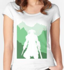 Dragonborn - Green Women's Fitted Scoop T-Shirt