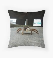 Crab is not amused Throw Pillow
