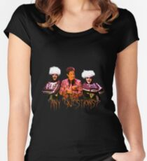 David S. Pumpkins - Any Questions? V Women's Fitted Scoop T-Shirt