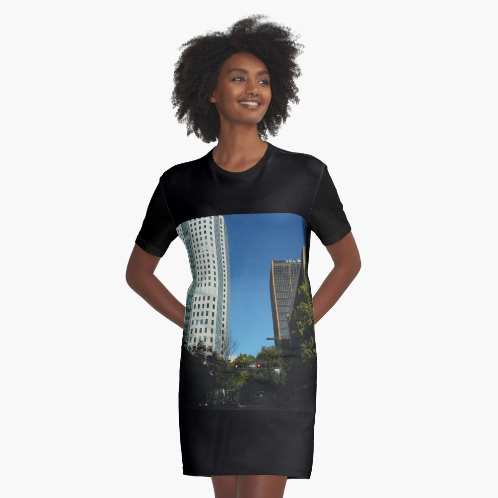 Engulfed in the Scene Graphic T-Shirt Dress Front