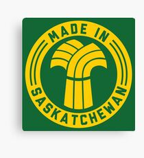Made in Saskatchewan Logo (Gold & Green) Canvas Print