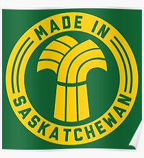 Made in Saskatchewan Logo (Gold & Green) Poster