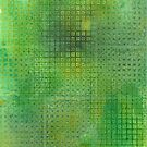 Watercolor Abstraction: Green Grid Texture by Megan  Koth