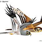 Montagu's Harrier caricature by rohanchak