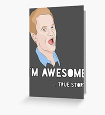 Barney - I'm Awesome. Greeting Card