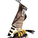 Mountain Hawk-Eagle caricature by rohanchak