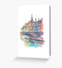 Retro city Greeting Card