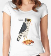 Northern Goshawk caricature Women's Fitted Scoop T-Shirt