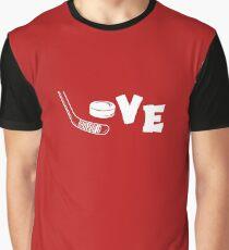 Love Hockey Stick Graphic T-Shirt