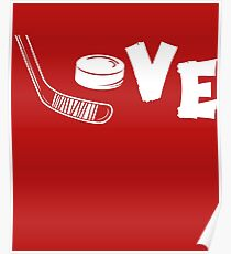 Love Hockey Stick Poster