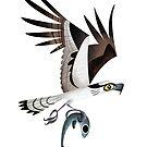 Osprey caricature by rohanchak