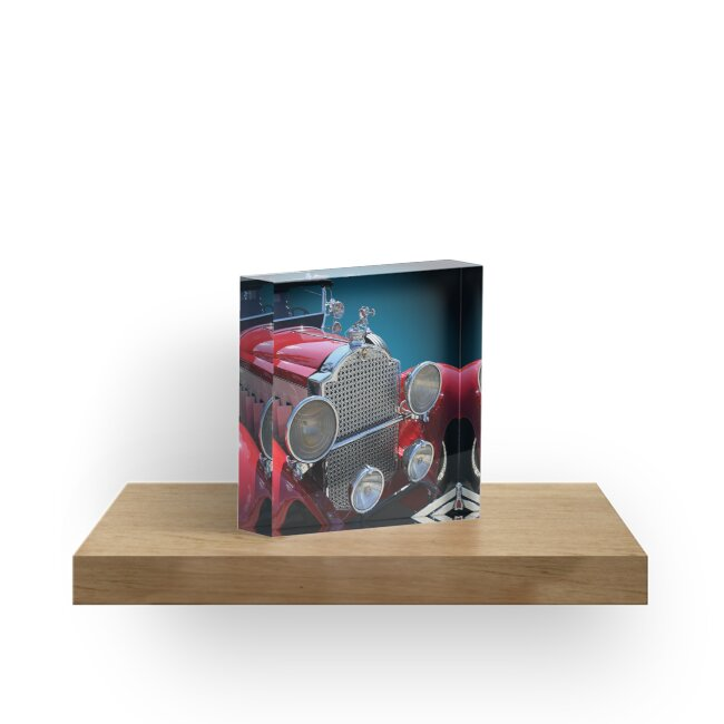 Studio Dalio - Vintage Red Touring Car Acrylic Block