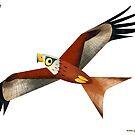 Red Kite caricature by rohanchak