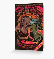 Poster for Evening of Dance Macabre | Vega Vop (Jenni Anne Clark) & Creepy B (Brynna Ashley) Greeting Card