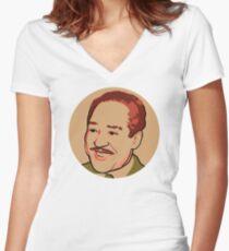 Langston Hughes Women's Fitted V-Neck T-Shirt