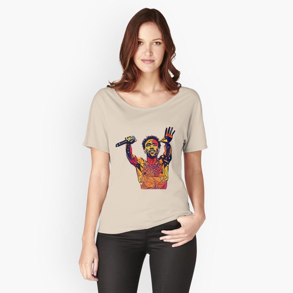 Abstraktes Gambino Loose Fit T-Shirt