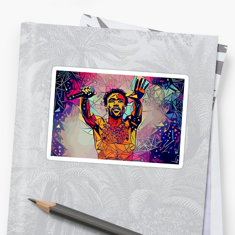 Abstraktes Gambino Sticker