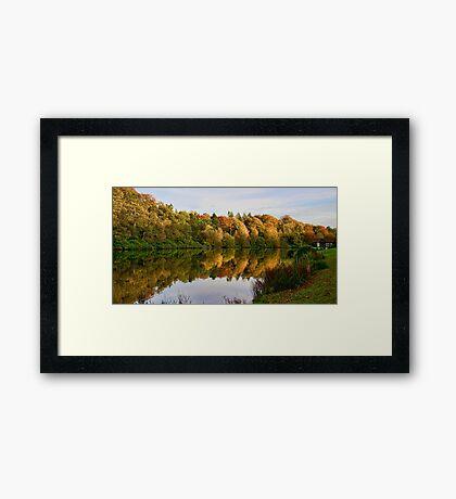 Dundas Loch & boathouse Framed Print