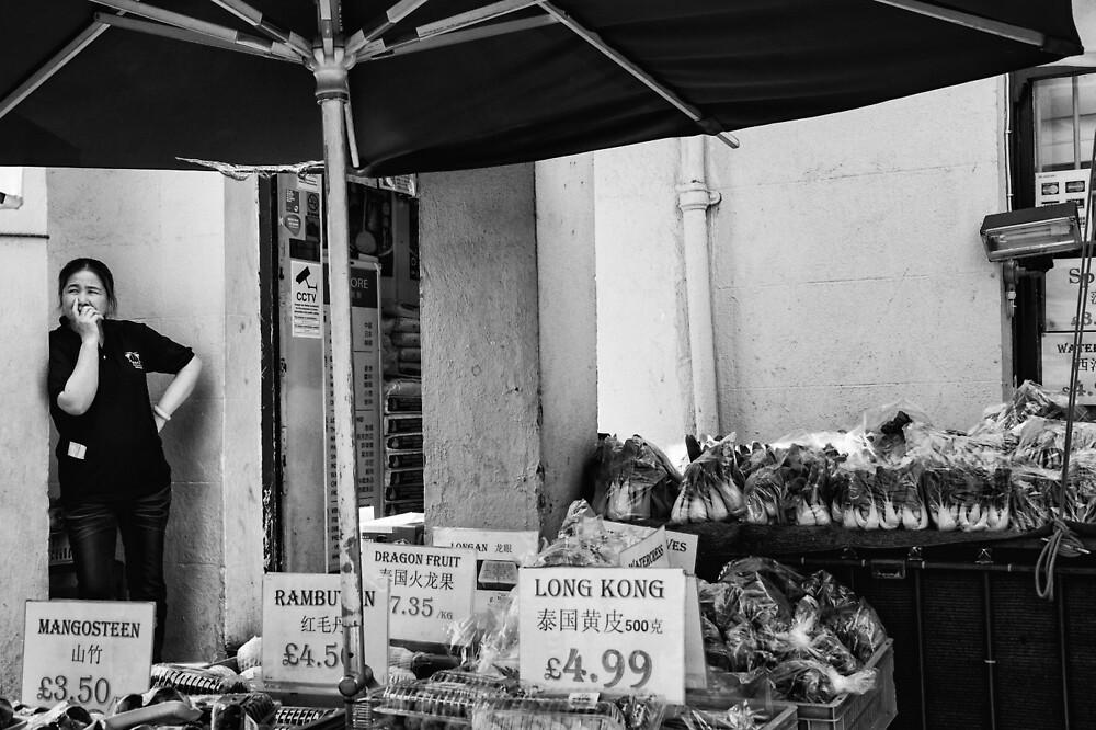 Taking a Break - Chinatown London by Ellesscee