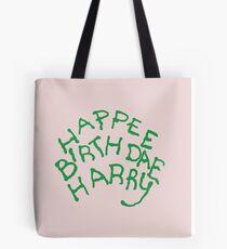 Happee Birthdae Harry Tote Bag